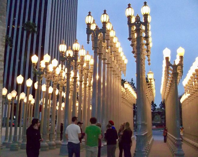 Chris Burden Urban Light By Gail Worley