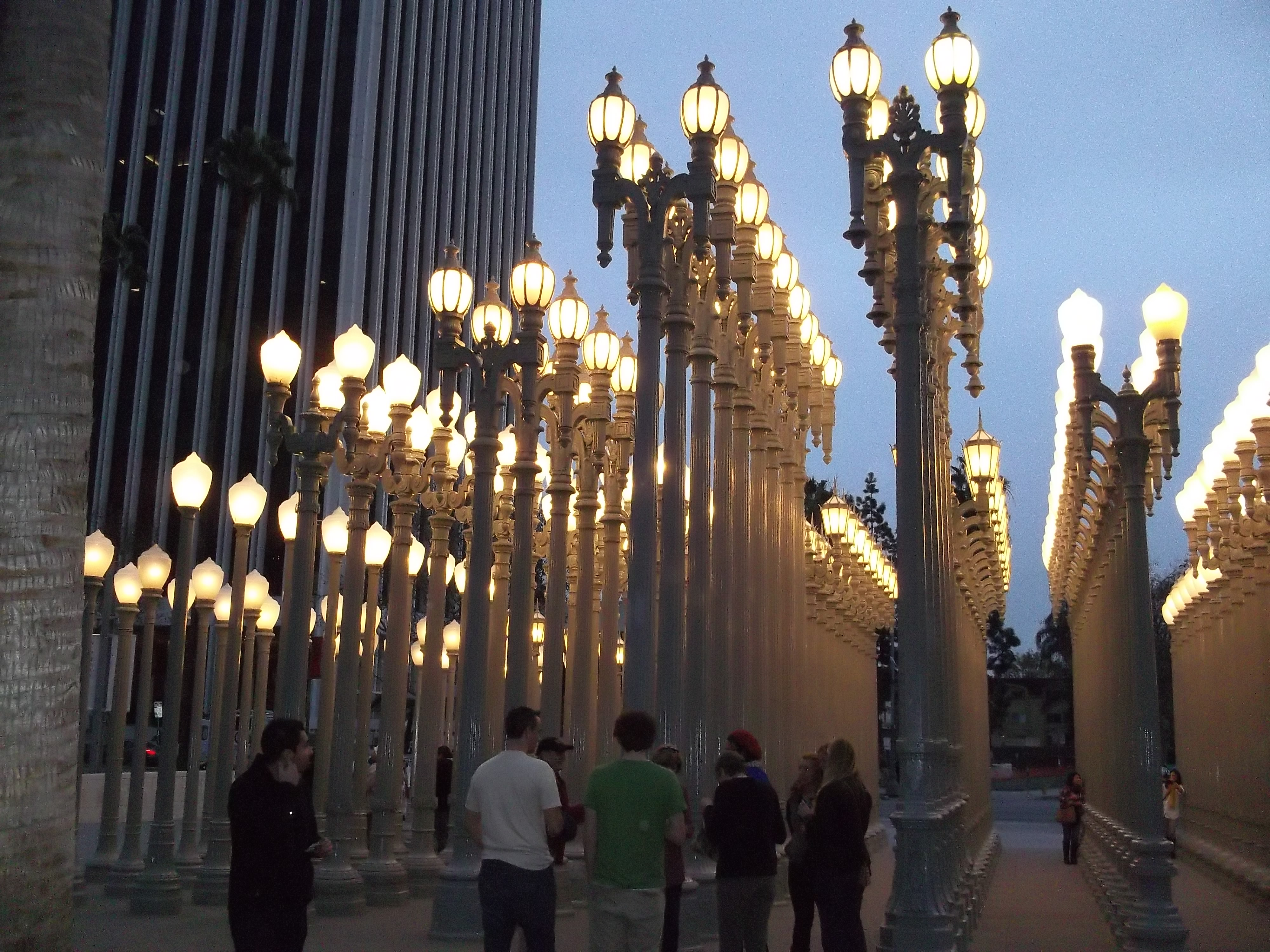 Captivating Urban Light By Chris Burden At LACMA