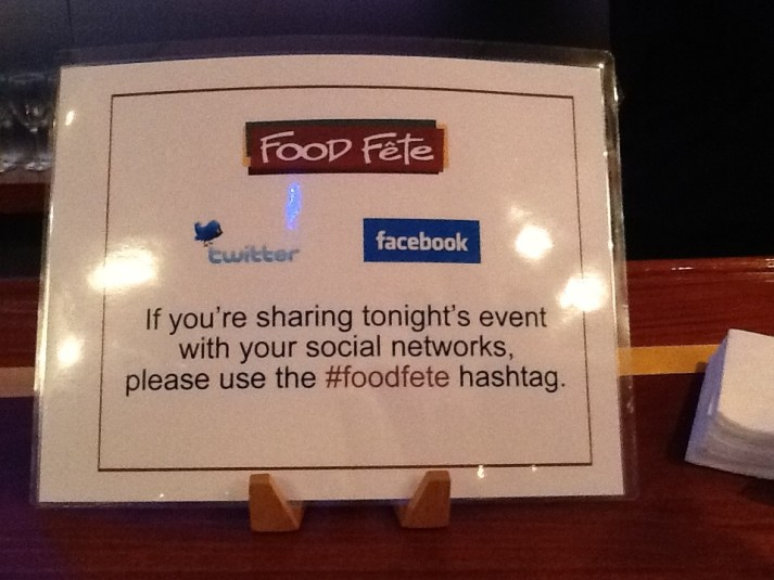 Food Fete Social Media Sign