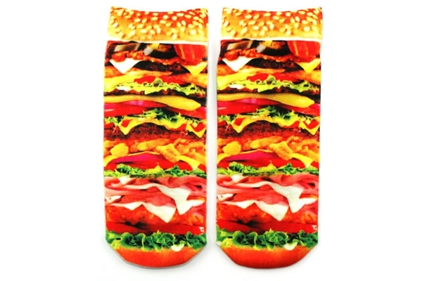 Burger Womens Ankle Socks