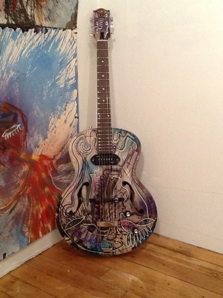 Joseph Arthur Painted Guitar