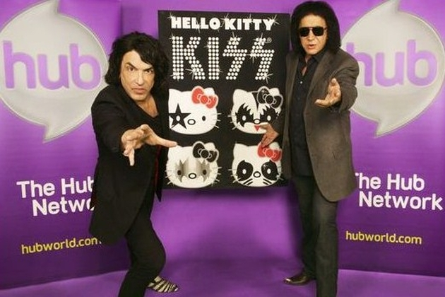 Kiss Hello Kitty Gene and Paul