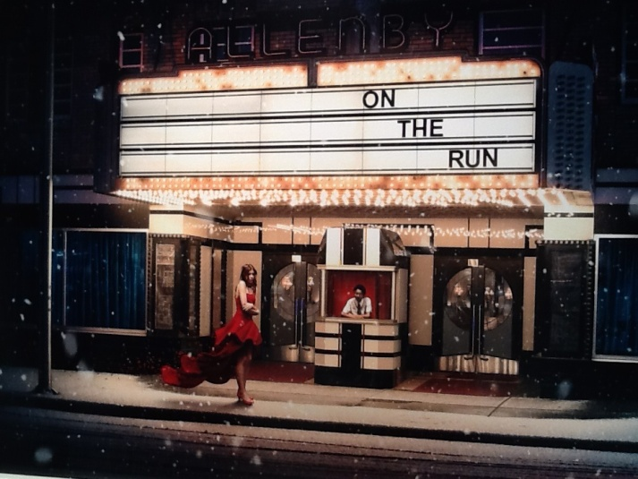 Movie Marquee Red Dress Photo