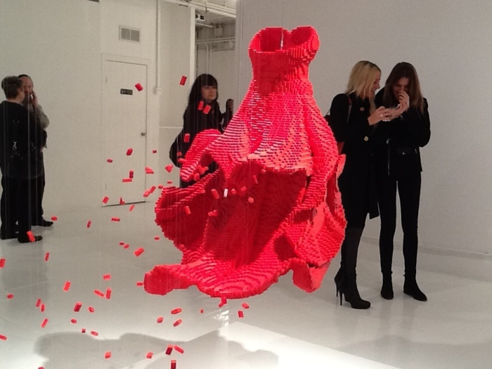lego red dress