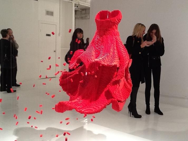 Red Lego Dress Rear Shot
