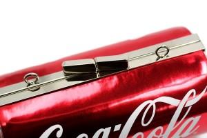 Coke Can Purse Clasp Close Up