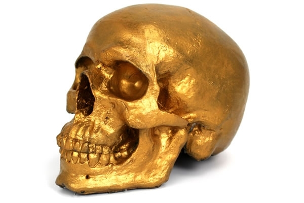 Golden Skull Foam Prop