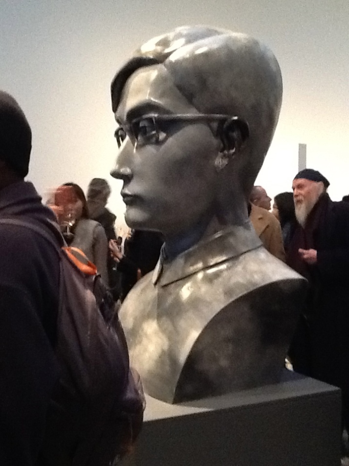 Zhang Xiaogang Boy Sculpture