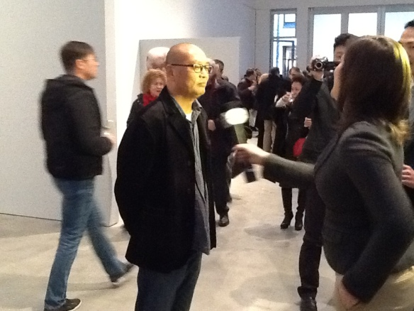 Zhang Xiaogang Being Interviewed