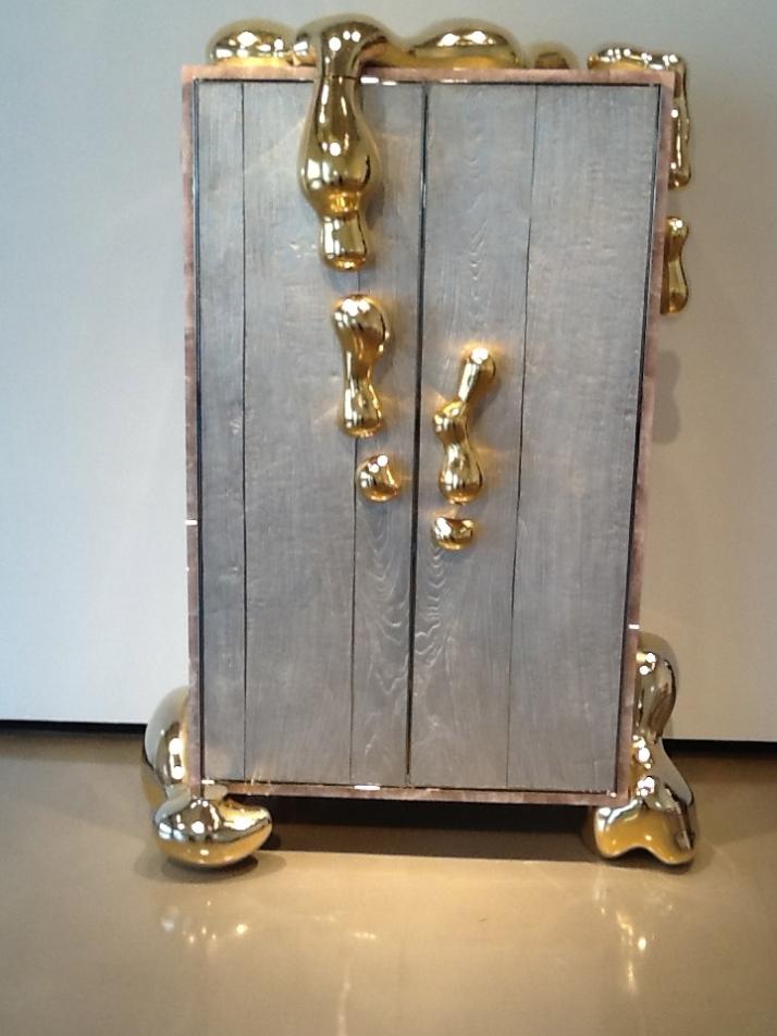 Liquid Gold Cabinet