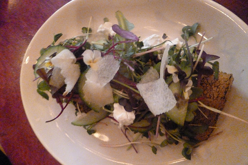 Micro Greens With Pear Vinaigrette at Cherrywood Kitchen