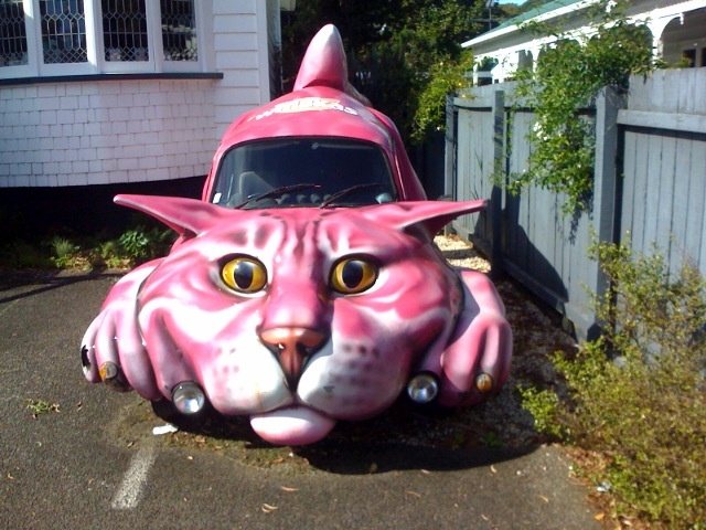 Pink Cheshire Cat Mobile