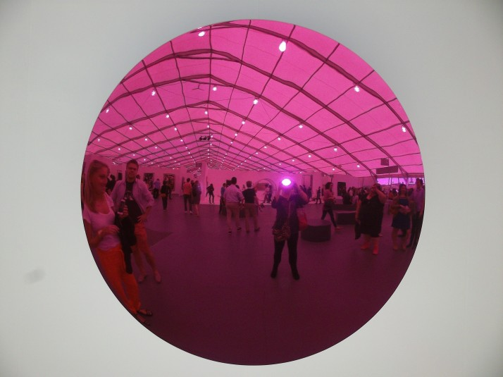 Pink Mirrored Disc at Frieze
