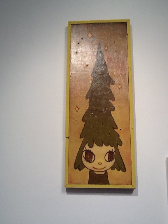 Yoshitomo Nara Girl with Tree Head
