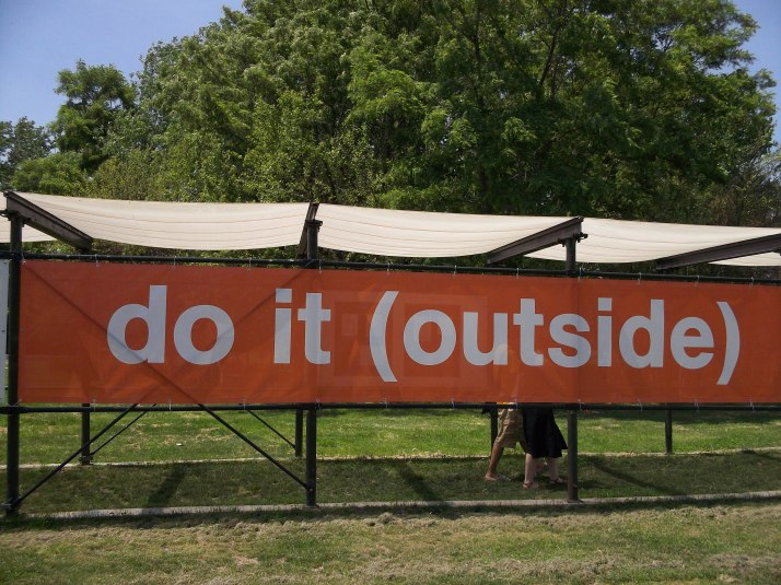Do It Outside Signage