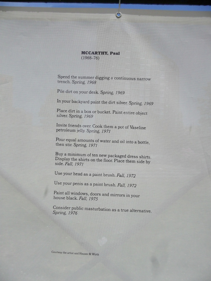 Instructions for Project Conceived by Paul McCarthy