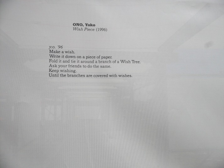 Yoko Ono Wish Project Instructions