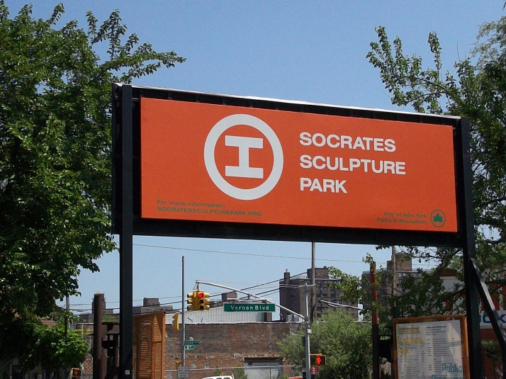 Socrates Sculpture Park Signage