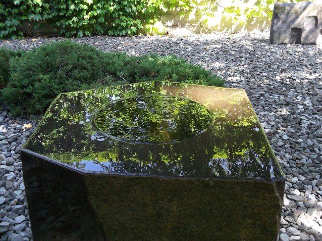 Noguchi Smooth Stone Fountain Sculpture Garden