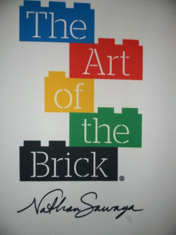 Art of the Brick Exhibit Signage