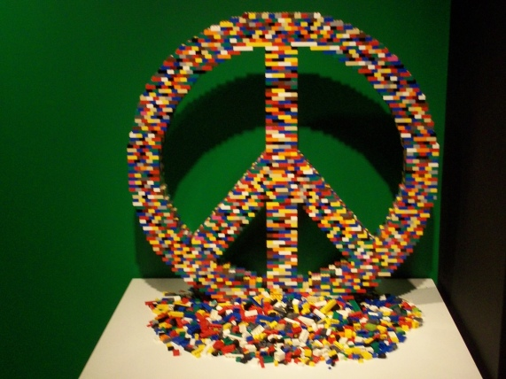 LEGO Peace Sign by Nathan Sawaya