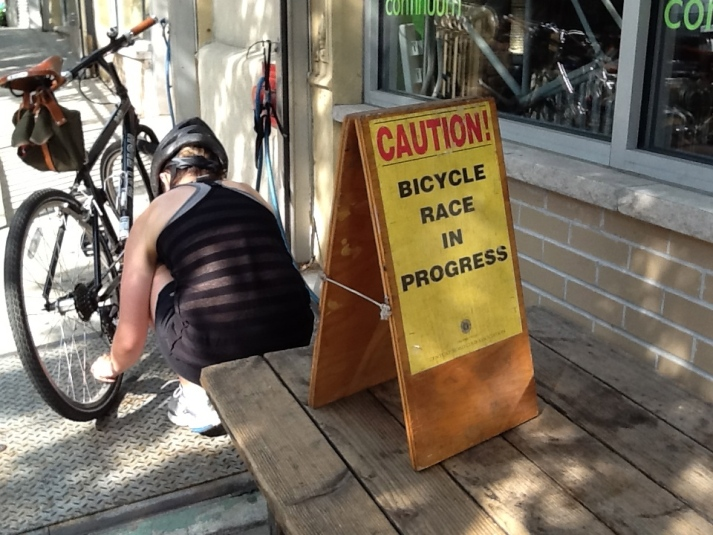 Bicycle Race Sign