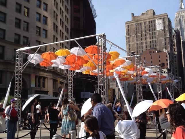 BMF Media Umbrellas Installation From a Distance