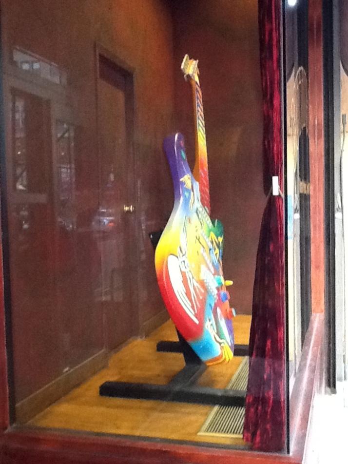 Mark Kostabi Painted Guitar 1