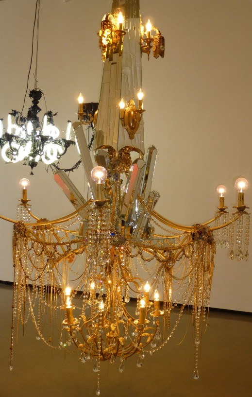 Dzine, Around the Way Girl (Chandelier Sculpture)