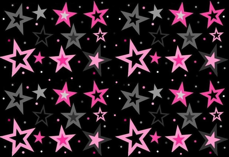 Star Pink And Black Pink And Gray Stars on Black