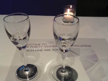 Purity Vodka Challenge Ballot with Glasses