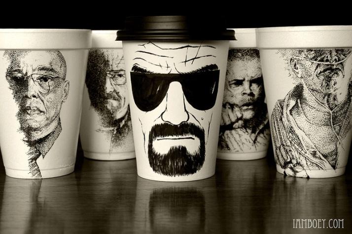 Breaking Bad Coffee Cup Art