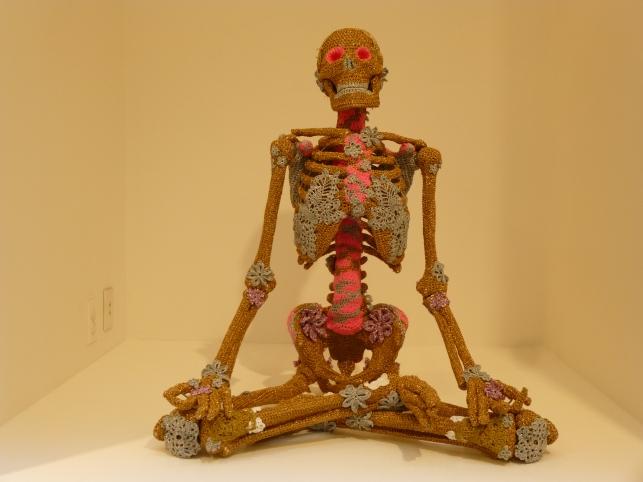 Olek Crocheted Skeleton