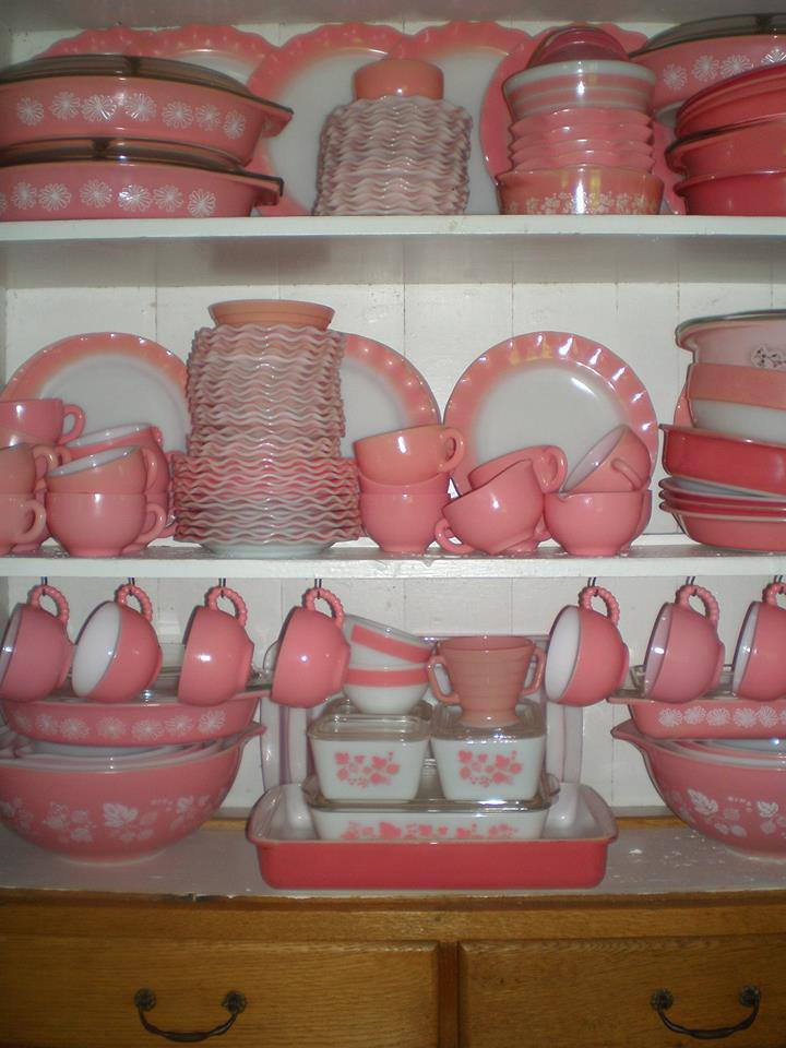 Pink Thing Of The Day Pink Vintage Pyrex Collection The