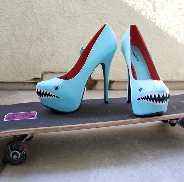 Shark Attack High Heels