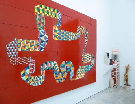 Large Red Painting By Barry McGee