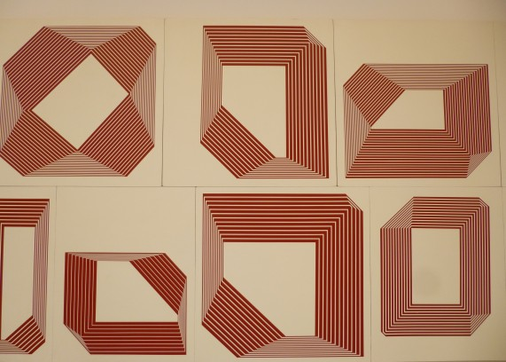 Red Geometric Designs Painting By Barry McGee