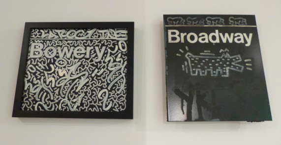 Bowery and Broadway Subway Signs By Keith Haring