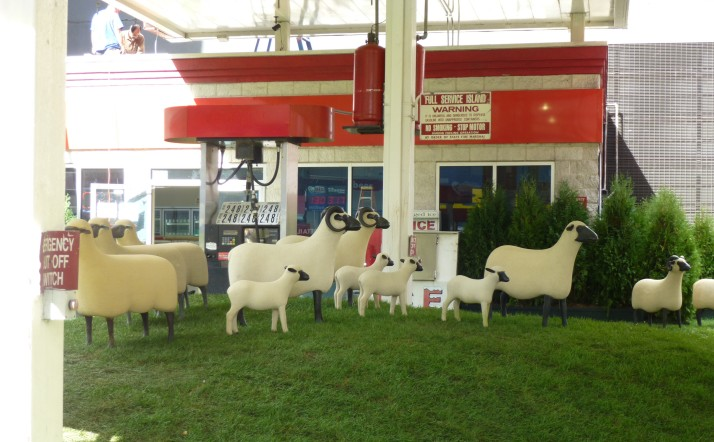 Francois Xavier Lalanne Sheep Station with Pumps Side View 2