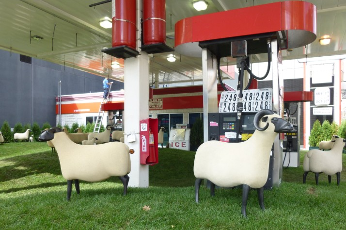Francois Xavier Lalanne Sheep Station with Pumps Side View