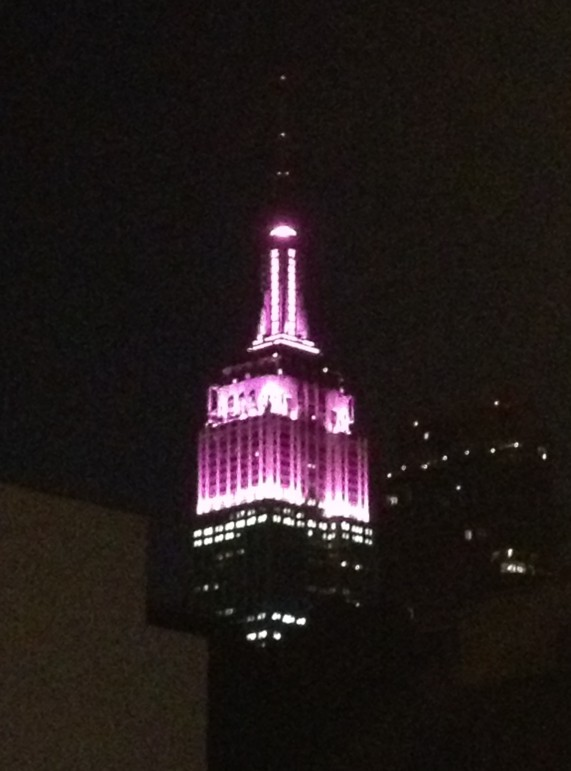 Pink Empire State Building