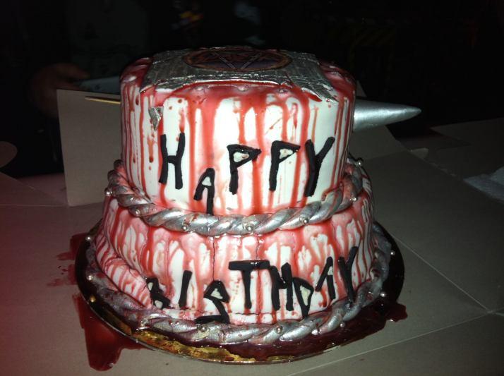 Slayer Birthday Cake Side View
