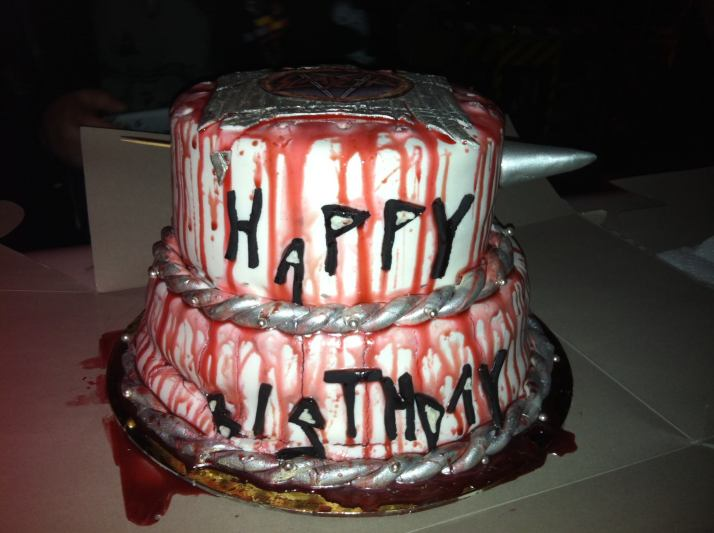 Slayer Birthday Cake Side View