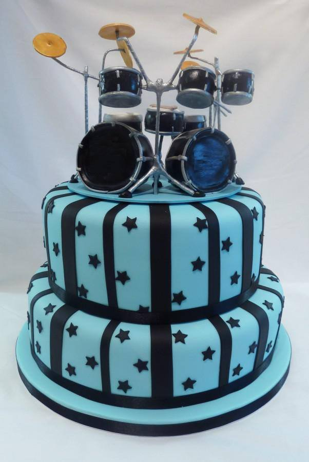 Miraculous Birthday Cake For A Drummer The Worley Gig Funny Birthday Cards Online Overcheapnameinfo