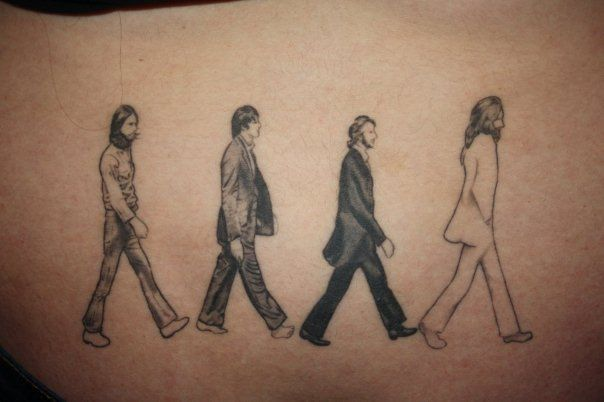 Rock star tattoos the worley gig for Beatles tattoo abbey road