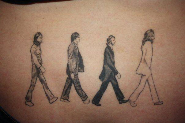 Beatles Abbey Road Tattoo