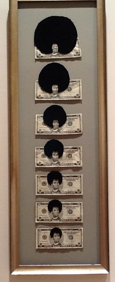 Afro Abe (Progression) By Sonya Clark