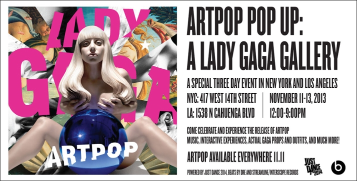 Lady Gaga Art Pop Evite