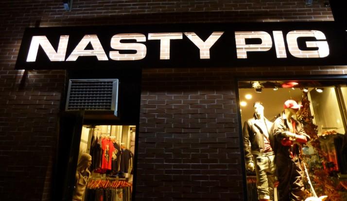Nasty Pig Store Signage