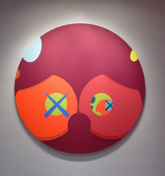 Kaws Red Painting